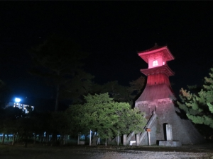 高灯籠・鞘橋のライトアップ(^▽^)/